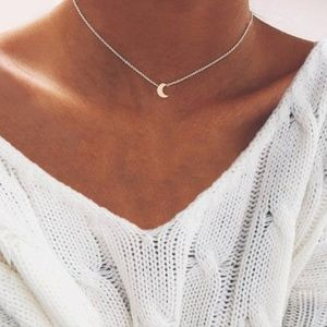 Jewelry - 4 for $20 Moon Choker Necklace (Silver)